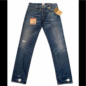 PRPS HEIRLOOM Blue Authentic Ripped Torn Jeans